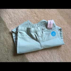 Carter's Kid mint green jeggings